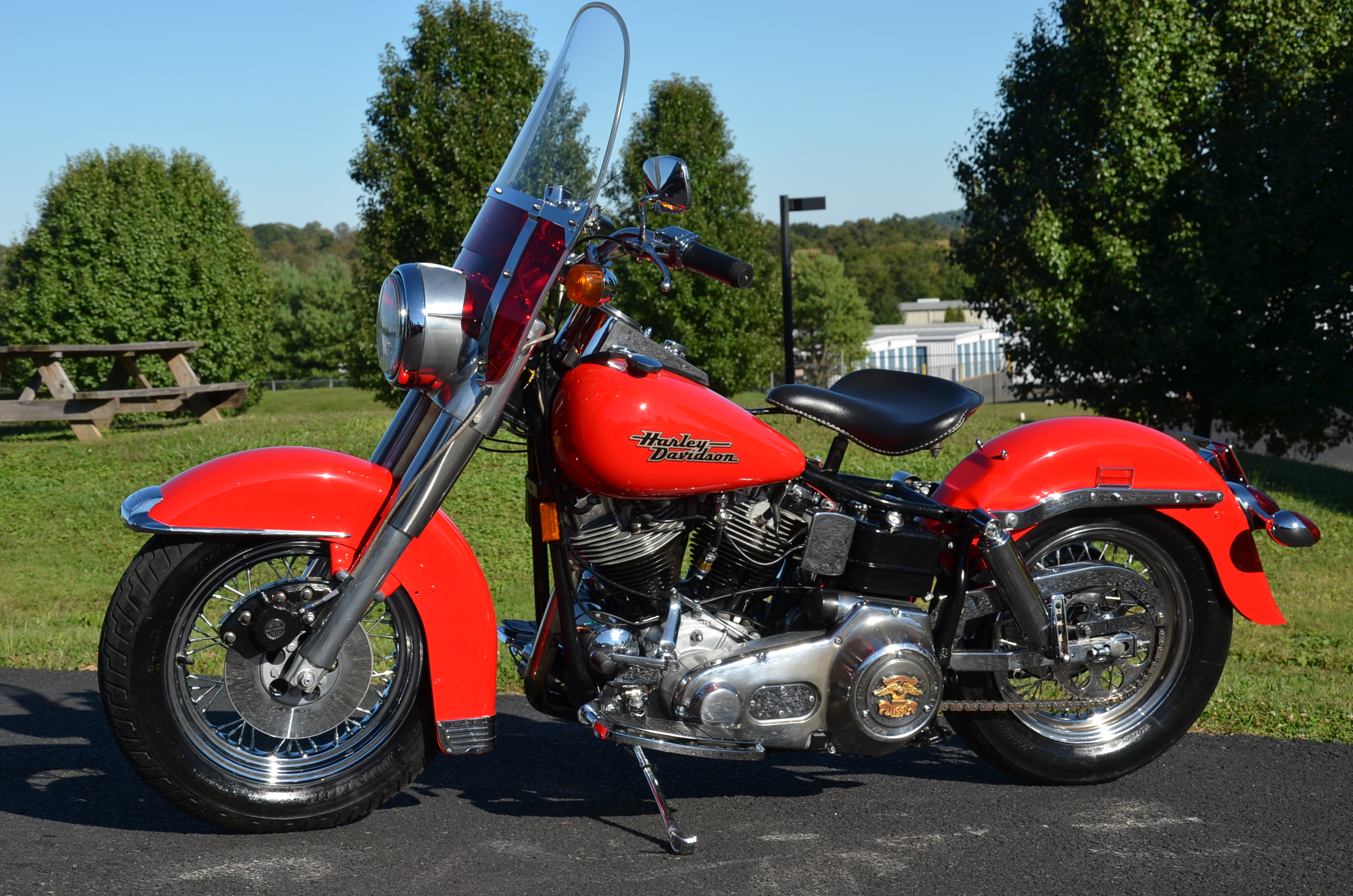 1969 RED HARLEY DAVIDSON FLH ELECTRA GLIDE for sale on 2040