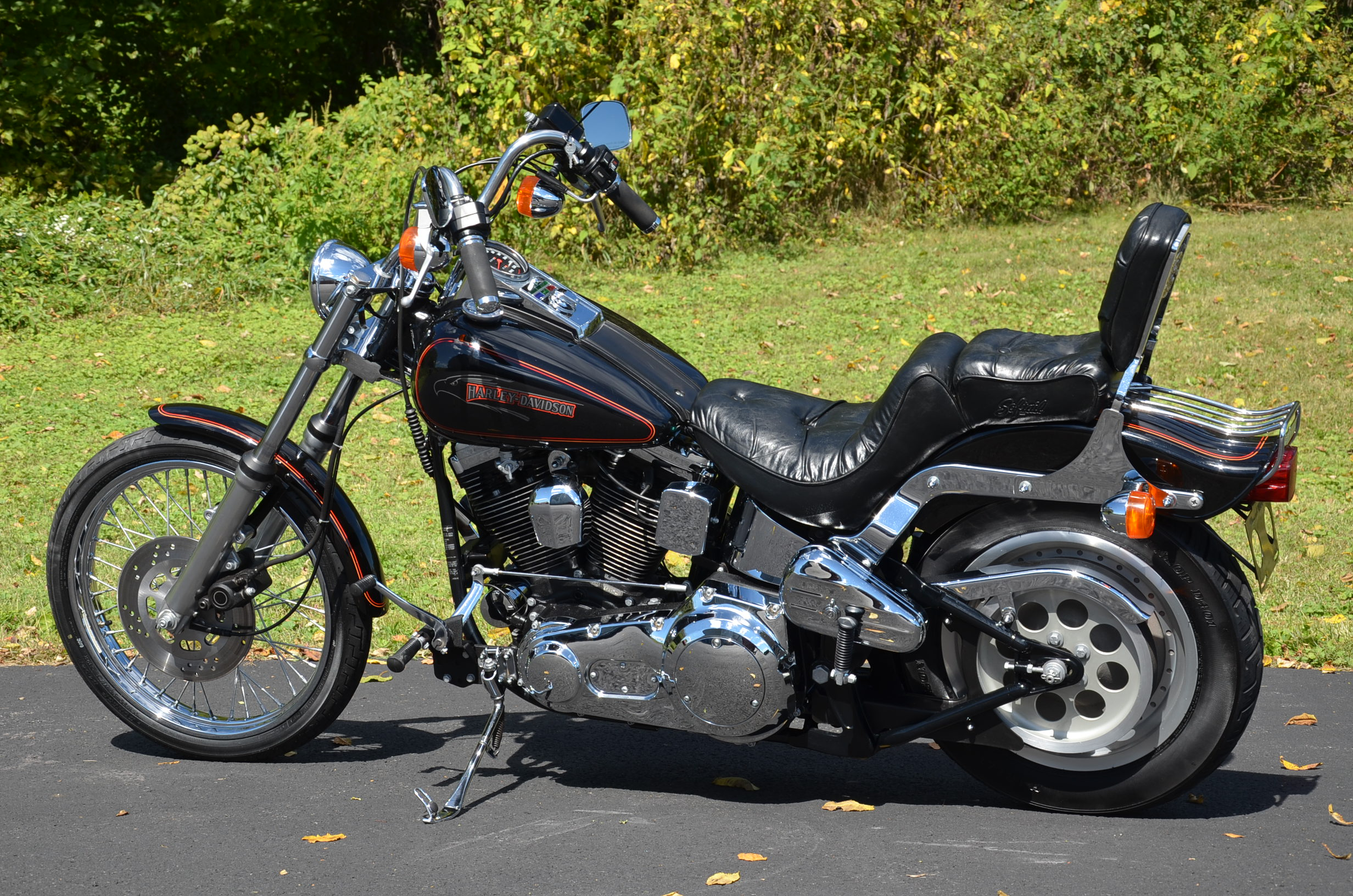 1991 black harley davidson evolution evo for sale on 2040 motos. Black Bedroom Furniture Sets. Home Design Ideas