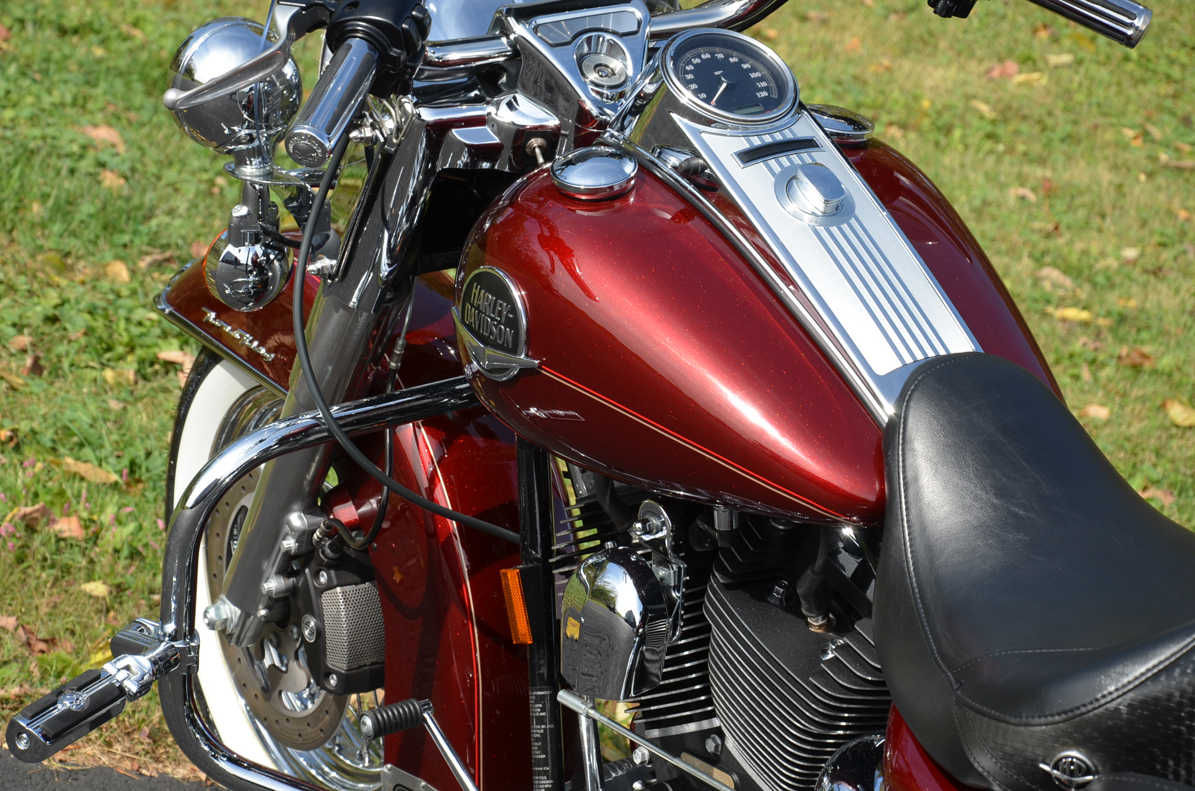 2008 Crimson Red Sunglo Harley Davidson Road For Sale On