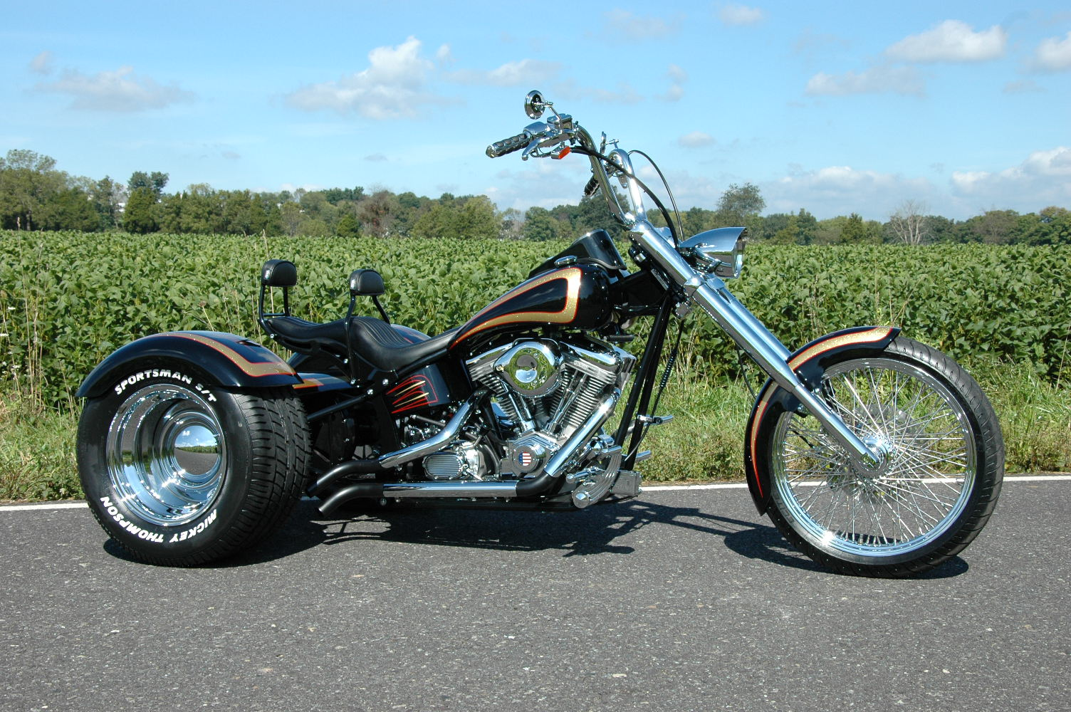 new trike softail chopper frame rolling chassis harley. Black Bedroom Furniture Sets. Home Design Ideas