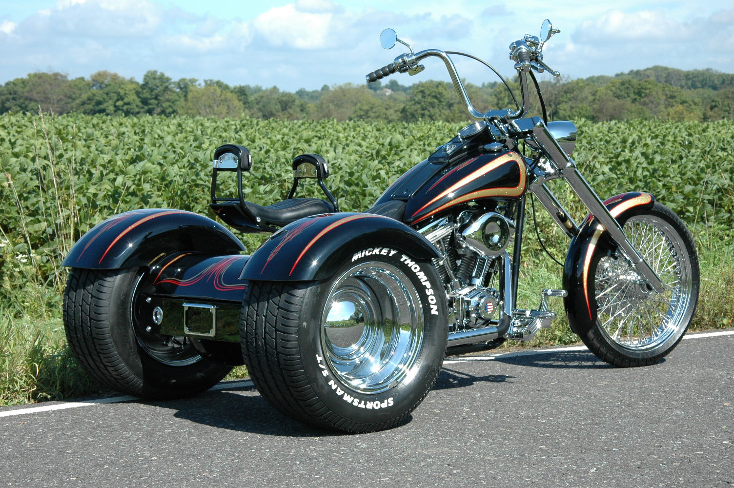 new trike softail chopper frame rolling chassis harley ebay. Black Bedroom Furniture Sets. Home Design Ideas