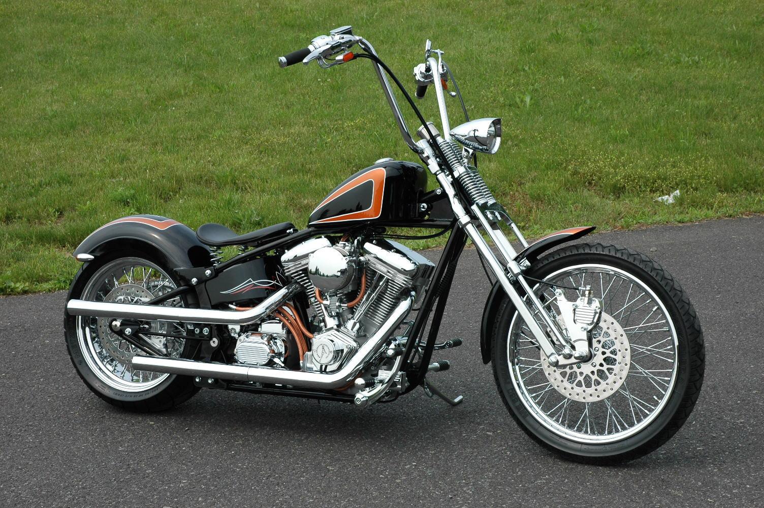 Harley Softail Fenders : Dna strutless quot rear fender harley chopper softail ebay